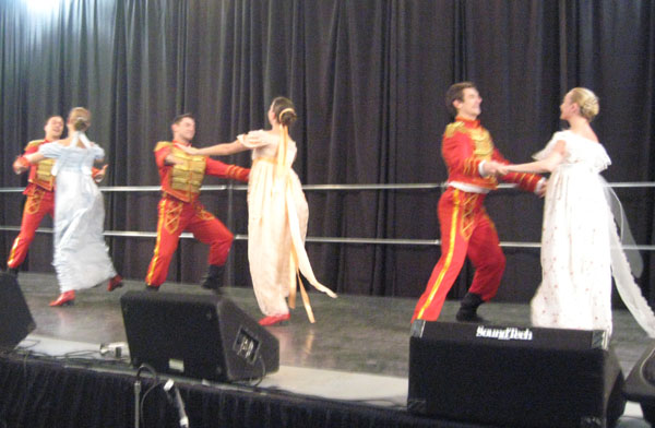 "Barynya performs Dance of Russian Nobility ""Daniel Cooper"", at the Slavic festival in Eugene, Oregon, February 2009."