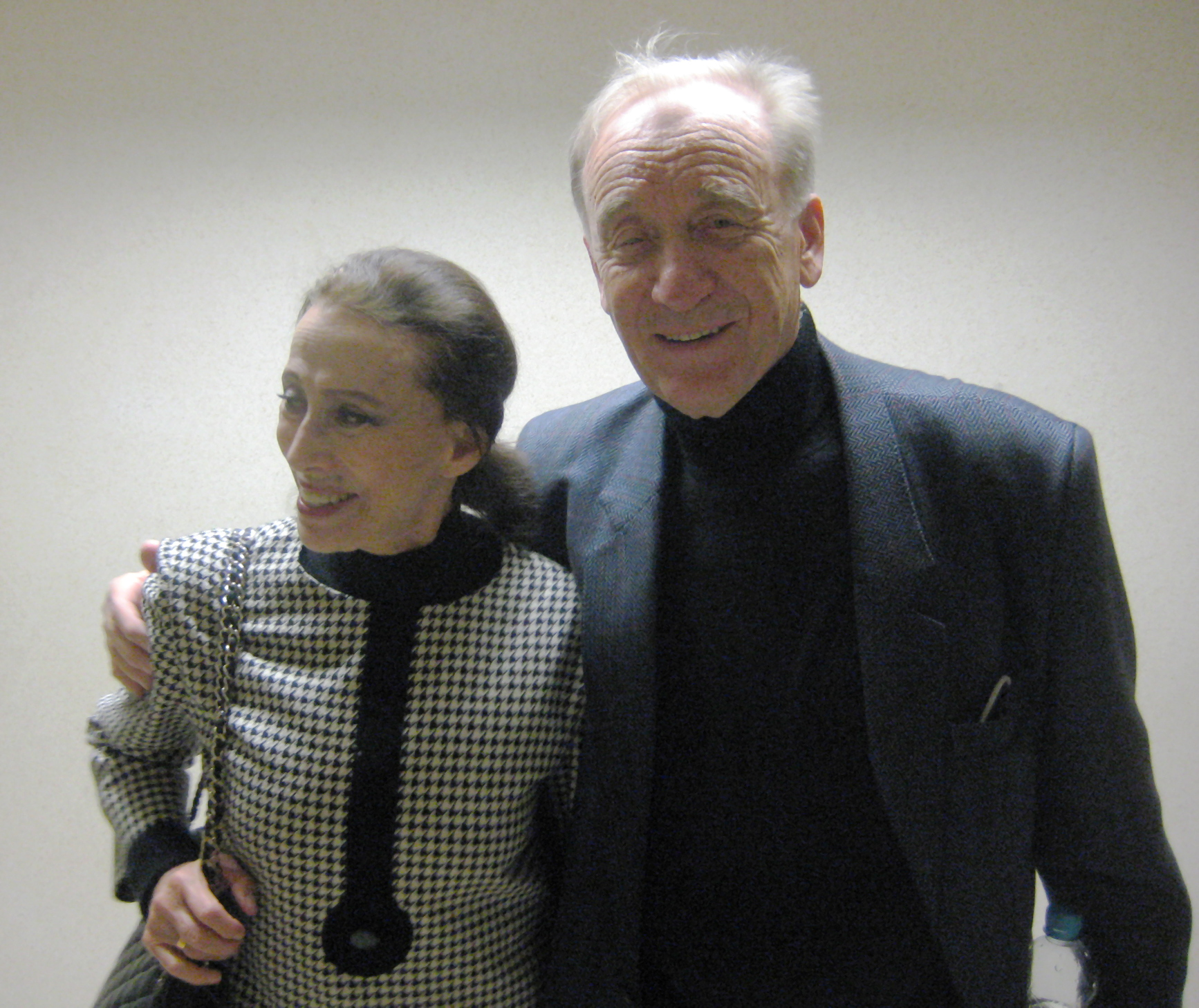 Rodion Shchedrin with his wife, Maya Plisetskaya, in 2009. Photo from Wikipedia, the free encyclopedia