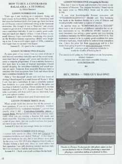 Balalaika Contrabass Buying Guide by Mikhail Smirnov from The BDAA newsletter, The official journal of the Balalaika and Domra Association of America