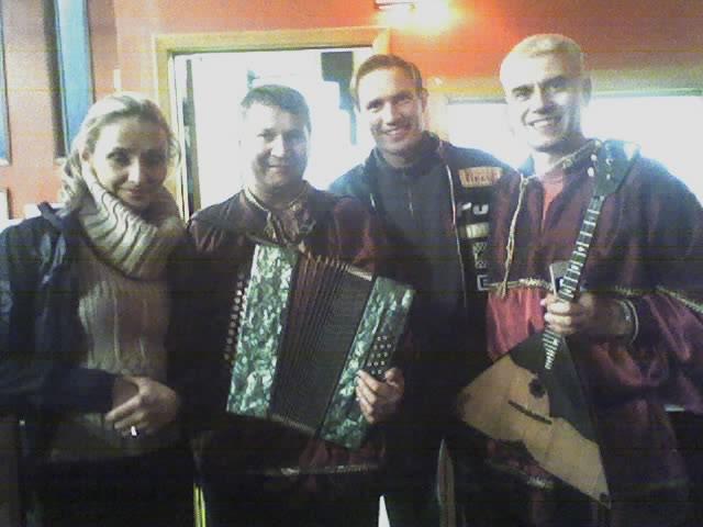 Tatyana Navka, Mikhail Smirnov, Roman Kostomarov and Alex Siniavski