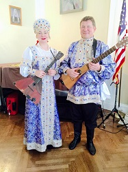 NY Balalaika Duo, Mikhail Smirnov, Elina Karokhina, New York, Russian Orthodox, Maslenitsa Celebration, Synodal Cathedral of the Icon of Our Lady of the Sign, February 22, 2015