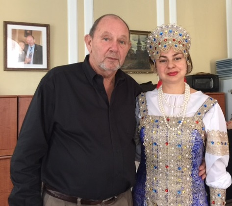 Balalaika virtuoso Elina Karokhina, Prince Vladimir K. Galitzine, New York, Russian Orthodox Maslenitsa Celebration, Synodal Cathedral of the Icon of Our Lady of the Sign, February 22, 2015