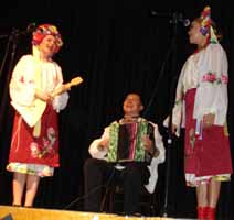 Traditional Russian, Cossacks, Gypsy and Ukrainian music and dance
