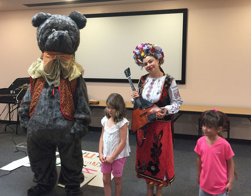 Russian Balalaika Duo, Mikhail Smirnov, Elina Karokhina, Cape Coral Lee County, Florida, Cape Coral Lee County Public Library