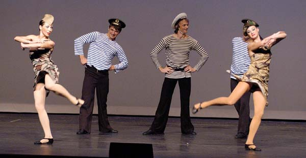 Russian Sailors Dance also know as Matrosskiy tanets Yablochko performed 