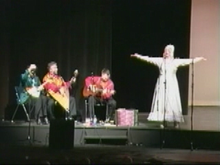 "Russian Balalaika Trio is playing Russian Traditional Song ""Valenki"".  Solo Natalia Smirnov"