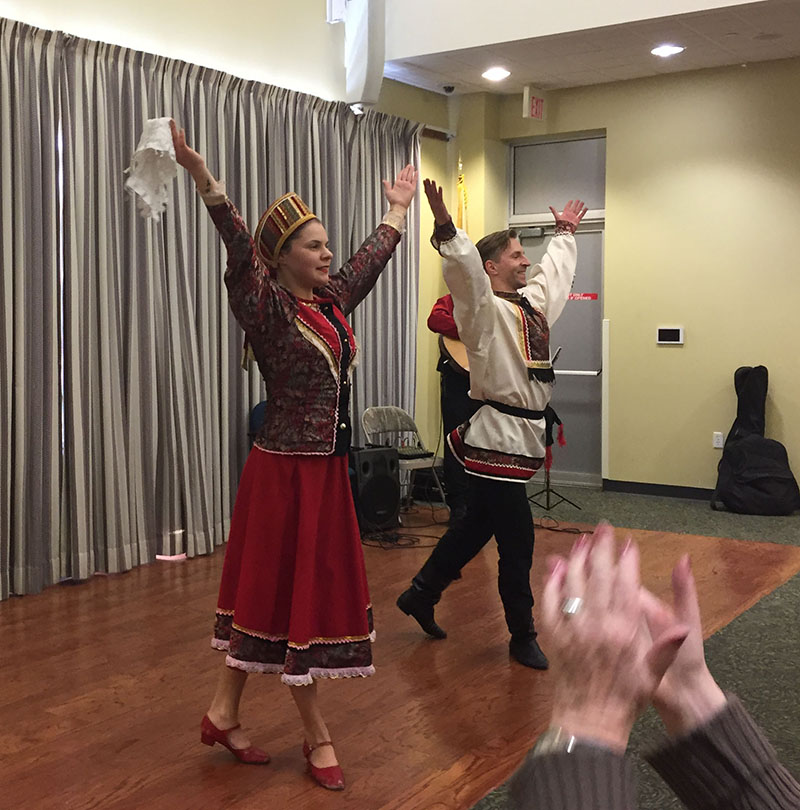 NJ Russian dancers, Mahwah Public Library, Mahwah, New Jersey