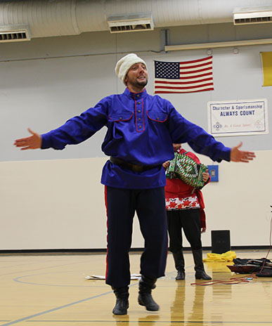 Serhiy Tsyganok, Cossack Dance, Sixth Grade Academy, Lovington, New Mexico, photo by Jaycie Chesser