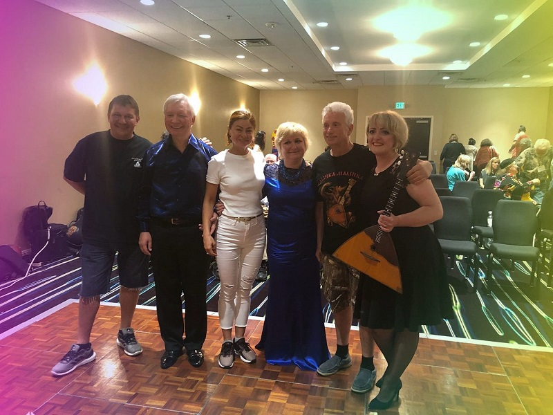BDAA-2018, Barynya Balalaika Trio, 40th Anniversary conference of the Balalaika and Domra Association of America, Valley Forge Casino Resort, King Of Prussia, Pennsylvania, USA, Mikhail Smirnov, Volodymyr Marunych, Elina Karokhina, Natalia Marunych, Leonid Bruk, Tetiana Khomenko