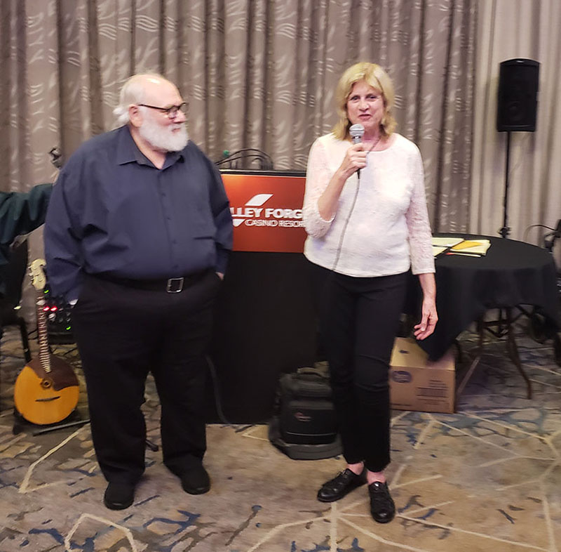 BDAA founders Charley Rappaport, Lynn McConnell, BDAA-2018, 40th Anniversary conference of the Balalaika and Domra Association of America, Valley Forge Casino Resort, King Of Prussia, Pennsylvania, USA
