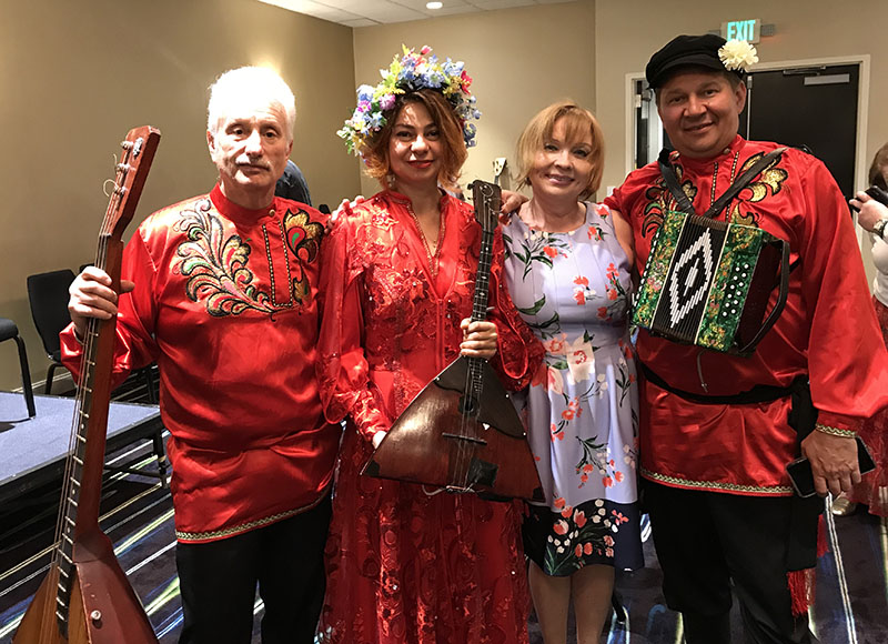 Leonid Bruk, Elina Karokhina, Irina Zagornova, MIkhail Smirnov, 40th Anniversary conference, Balalaika and Domra Association of America, Valley Forge Casino Resort, King Of Prussia, Pennsylvania, USA, BDAA-2018