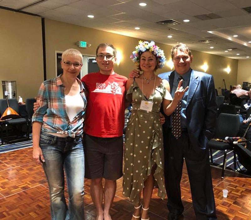 Anna Kusner, Peter Omelchenko, Elina Karokhina, Mikhail Smirnov, BDAA-2018, 40th Anniversary conference, Balalaika and Domra Association of America, Valley Forge Casino Resort, King Of Prussia, Pennsylvania, USA