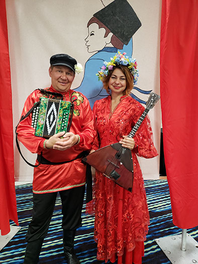 Mikhail Smirnov, Elina Karokhina, BDAA-2018, 40th Anniversary conference, Balalaika and Domra Association of America, Valley Forge Casino Resort, King Of Prussia, Pennsylvania, USA
