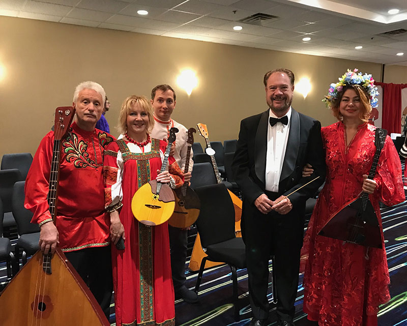 BDAA-2018, 40th Anniversary conference of the Balalaika and Domra Association of America, Valley Forge Casino Resort, King Of Prussia, Pennsylvania, USA, Leonid Bruk, Olga Douglas, Peter Omelchenko, David Cooper, Elina Karokhina