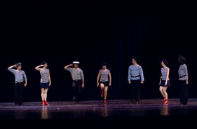 "Ensemble Barynya, photo by Dalia Bagdonaite, Dance of Russian Sailors ""Yablochko"""