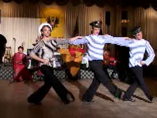 "Dance of Russian Sailors performed by folk music and dance ensemble ""Barynya"" from New York"