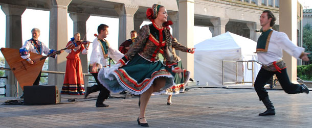 "Barynya - Russian folk dance. Russian dance and music ensemble ""Barynya"" performance in Atlantic City, NJ"