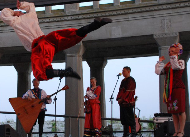 "Ukrainian national dance ""Hopak"", Ensemble ""Barynya"" performance in Atlantic City, NJ"