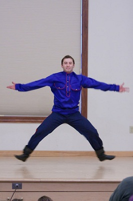 Alexey Maltsev, Russian dance and music ensemble Barynya, concert in  New Jersey, 2009