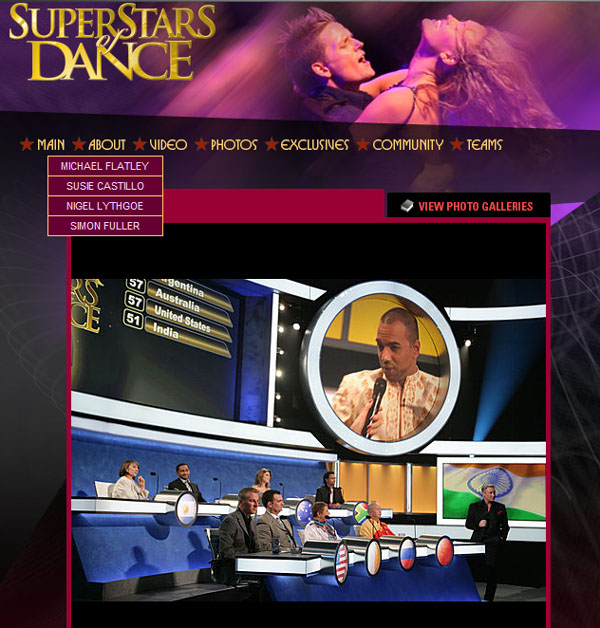 "Mikhail Smirnov and  ""Superstars of dance"" judges, NBC, 2009"