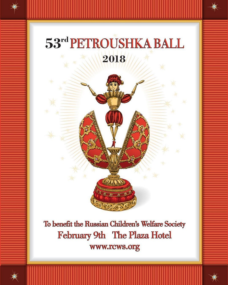 Poster of the Petroushka Ball-2018, The Plaza Hotel, New York City, USA, Friday, February 9th