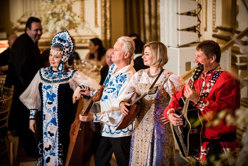 Irina Zagornova, Leonid Bruk, Elina Karokhina, Mikhail Smirnov, Photo credit :: Maike Schultz, Petroushka Ball 2018, The Plaza Hotel, New York City, USA