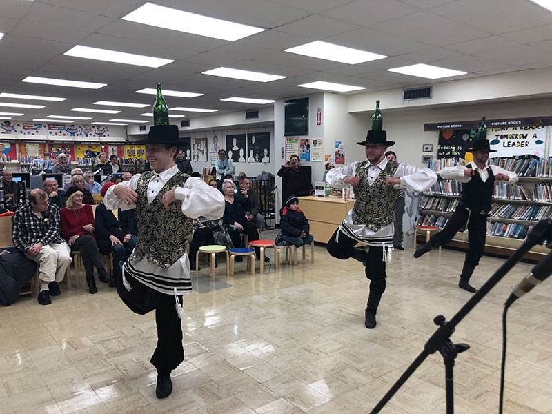 Bottle Dancers USA, Alexander Rudoy, Serhiy Tsyganok, Vladimir Nikitin, Sheepshead Bay Brach Brooklyn Public Library, 2636 East 14th Street, Brooklyn, New York 11235, Jewish Bottle Dance, Wednesday, November 28th