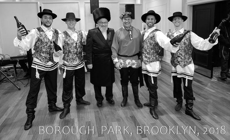 Bottle Dancers, Seiger Simcha at the Renaissance Ballroom, Borough Park, Brooklyn, Wednesday, October 17th , 2018, Mikhail Smirnov, Alexander Rudoy, Konstantin Tulinov, Vladimir Nikitin, Serhiy Tsyganok, 5902 14th Ave, Brooklyn, NY 11219