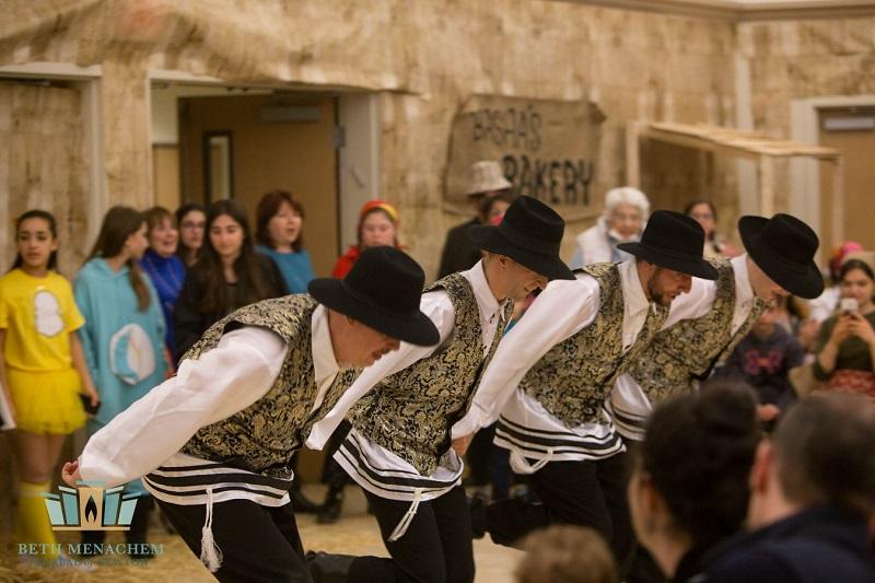 Bottle Dancers, Purim Celebration, Beth Menachem Chabad of Newton, Newton, Massachusetts, 349 Dedham Street, Newton, MA  02459