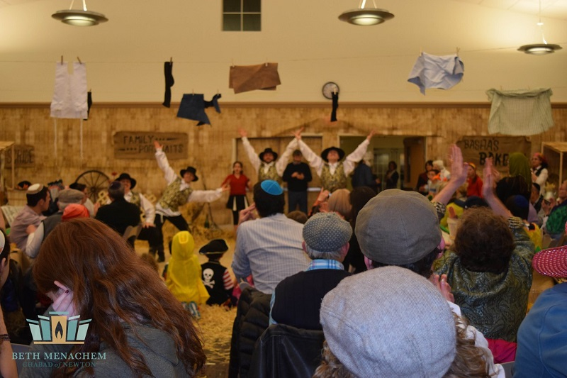 Bottle Dancers, Purim Celebration, Beth Menachem Chabad of Newton, Newton, Massachusetts, 349 Dedham Street, Newton, MA  02459