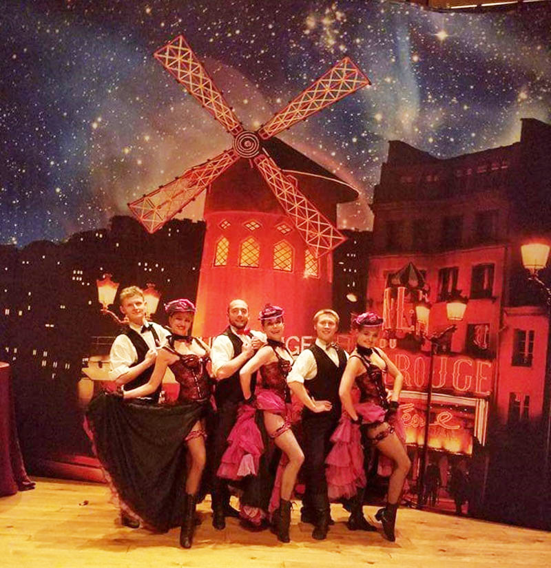 French Cancan, Moulin Rouge, Cabaret, Can-Can dancers, Vladimir Nikitin, Olga Chpitalnaia, Eyvgenii Rudenko, Olga Yeliseyeva, Katia Brovkina, Sergei Tsyganok, Bethel Woods Center for the Performing Arts, Bethel, New York, Sullivan County