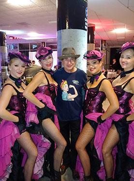 New York Can-Can Cabaret dancers, Bonjour Paris Gala, Cradle of Aviation Museum, Garden City, New York, September 29, 2018