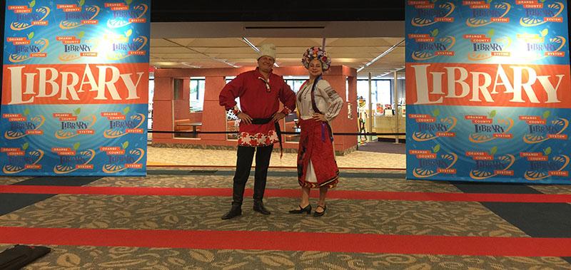 Russian Balalaika Duo, Elina Karokhina, Mikhail Smirnov, Orlando Public Library, Orlando, Florida