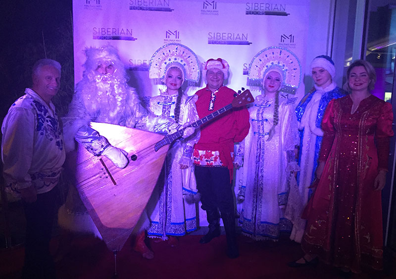 Balalaika Trio, Barynya dancers, Siberian Floors Miami, 6191 Biscayne Blvd, Miami, FL 33138, 12-17-2015, Thursday, December 17th, 2015