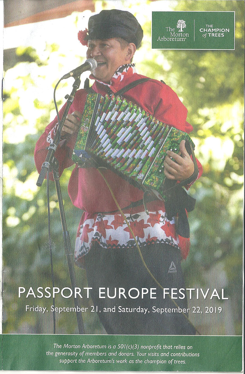 Russian musicians, Mikhail Smirnov, Illinois, Morton Arboretum, Passport to Europe International festival, Russian music, Balalaika, Garmoshka, Russian Duo, Lisle, IL