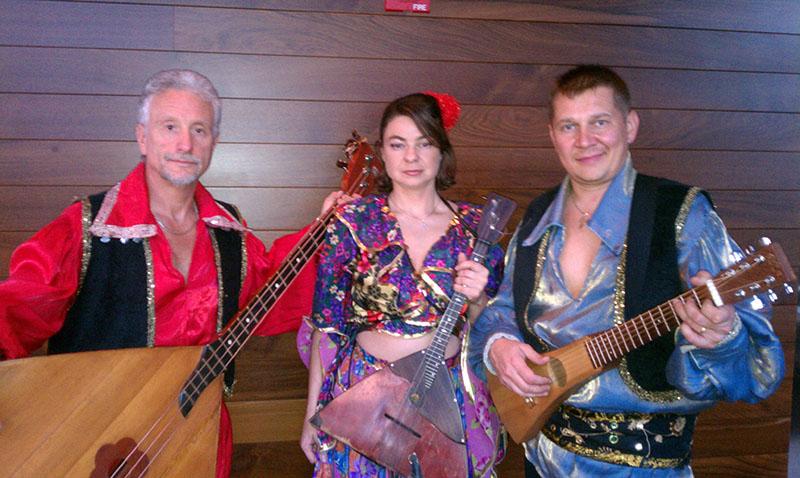 Balalaika Trio NYC, Mikhail Smirnov, Elina Karokhina, Leonid Bruk, Gansevoort Park Hotel, 420 Park Ave South, New York, NY
