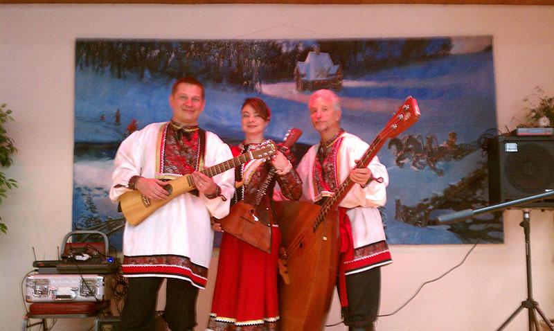 Balalaika Trio, Mikhail Smirnov, Elina Karokhina, Leonid Bruk, Saints Peter and Paul Russian Orthodox Church, South River, New Jersey