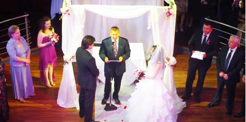 Bilingual Russian-English speaking Wedding Officiant Minister Mikhail, Sunday, April 29th, 2012, 04-29-2012, Restaurant Rasputin, Brooklyn, New York