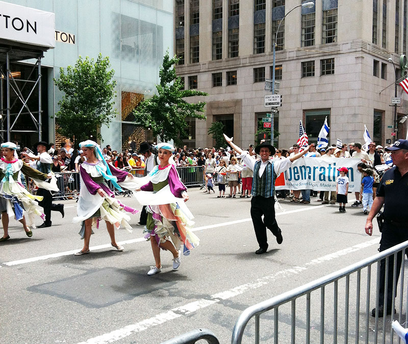 NYC Jewish dancers, 48th ANNUAL CELEBRATE ISRAEL PARADE 2012