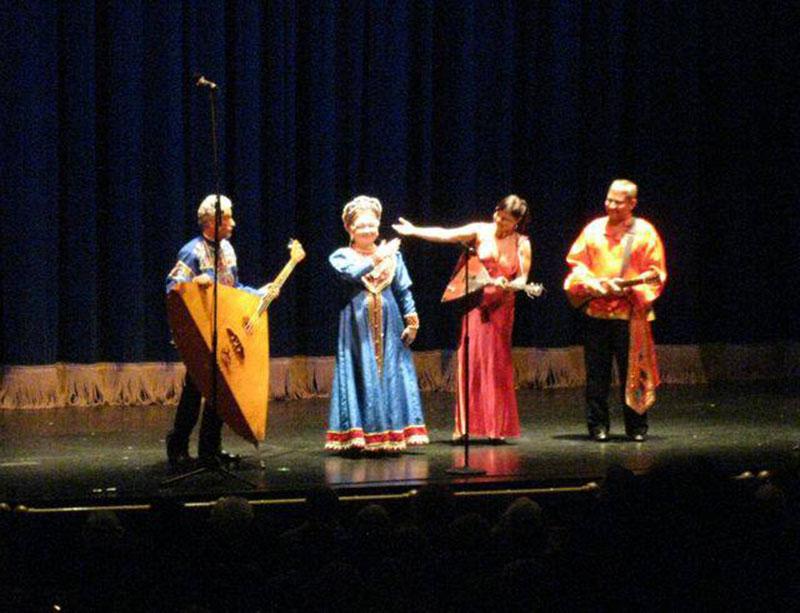 Balalaika Trio, Mikhail Smirnov, Elina Karokhina, Leonid Bruk, singer Irina Zagornova, Sarasota, Florida
