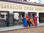 Florida Balalaika Trio, Irina Zagornova, Mikhail Smirnov, Leonid Bruk, Elina Karokhina, Sarasota Opera House, Sarasota, FL
