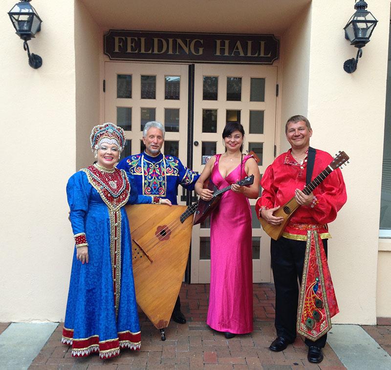 Florida Balalaika Trio,Irina Zagornova, Leonid Bruk, Elina Karokhina, Mikhail Smirnov, Sarasota Opera House, Sarasota, FL