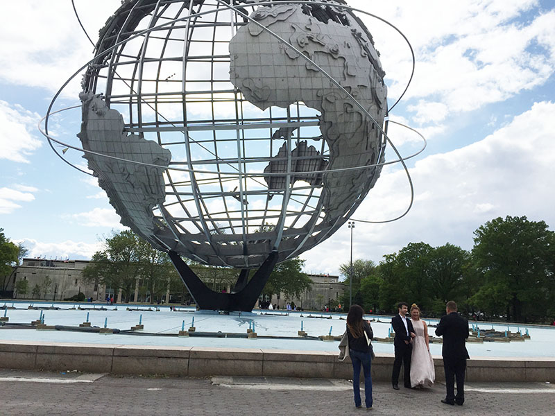 05-15-2016, Russian wedding ceremony, Sunday, May 15th, 2016, Unisphere, Flushing Meadows Corona Park, Queens, New York City
