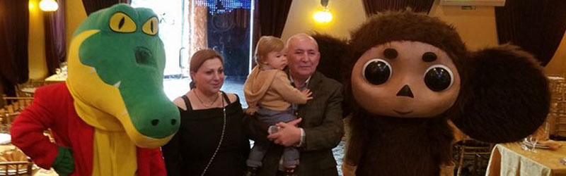 Contact Mikhail Smirnov, 201-981-2497, msmirnov@yahoo.com, Cheburashka and Krokodil Gena for kids parties in New Jersey, Kabaret Restaurant, Middlesex County, Sunday October 16th 2016, 100 Summerhill Road Spotswood NJ 08884, kids birthday party
