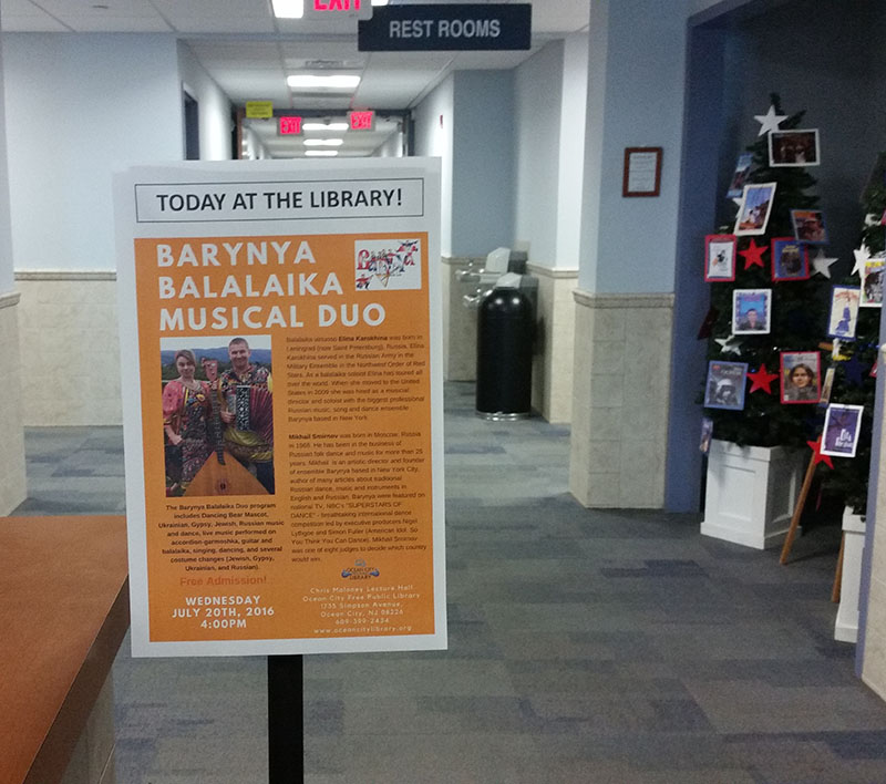 07-20-2016, Barynya at the Ocean City Free Public Library, Cape May County, New Jersey, Wednesday, July 20th, 2016