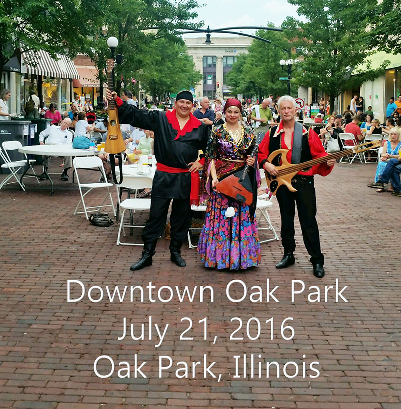 07-21-2016, Illinois Balalaika Trio, Downtown Oak Park, Mikhail Smirnov, Elina Karokhina, Leonid Bruk, Thursday, July 21st, 2016