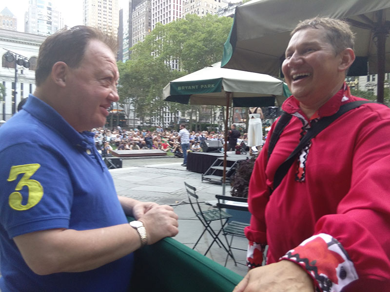 Wednesday, August 31, 2016, Bryant Park NYC, New York City, 08-31-2016, Gennady Gutkin, Mikhail Smirnov