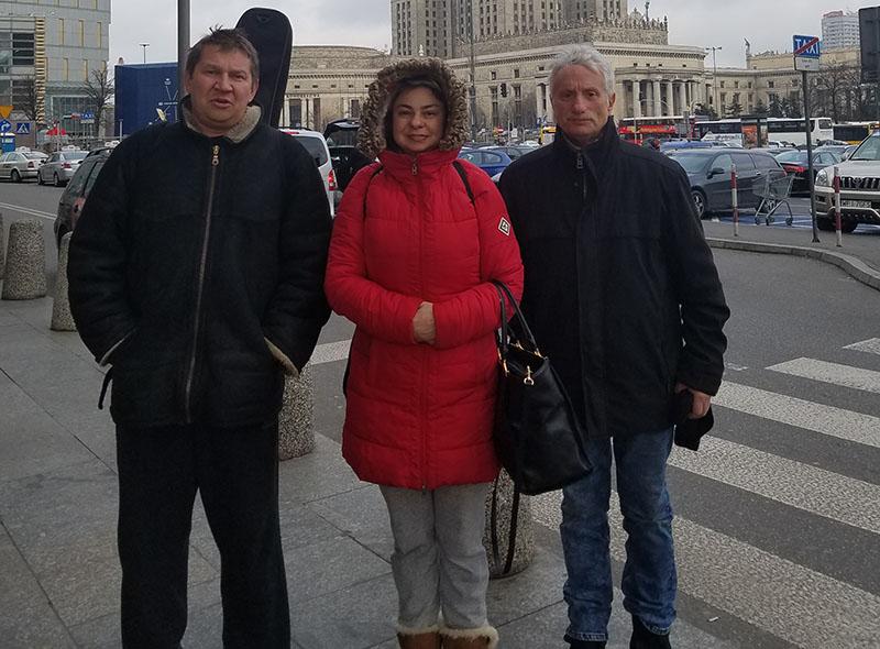 Mikhail Smirnov, Elina Karokhina, Leonid Bruk, Balalalaika Trio, Lithuania