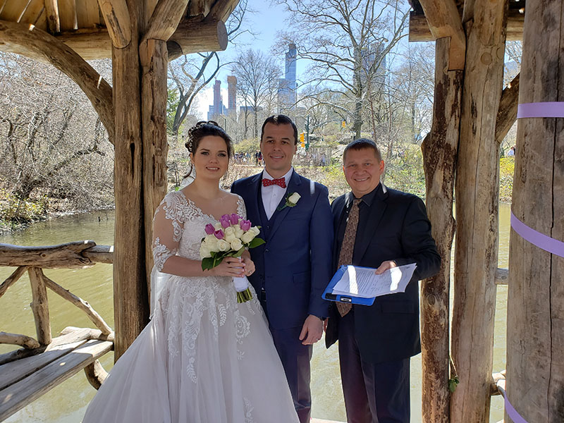 04-22-2018, Sunday, April 22, 2018, Russian Wedding Officiant Mikhail, Central Park New York City