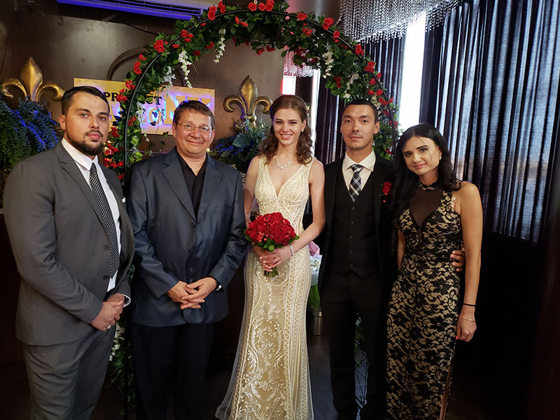 06-16-2018, Saturday, June 16th, 2018, Russian Wedding Officiant Mikhail, Restaurant Passage, 2027 Emmons Ave, Brooklyn, NY 11235